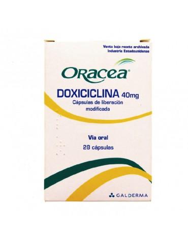 Oracea 40 mg Cápsulas...