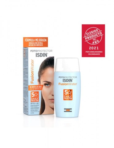 Fotoprotector Fusion Water 50 + por 50 ml (ISDIN)